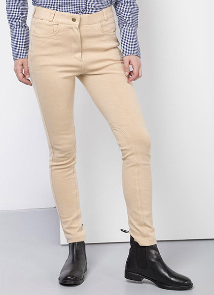 Ladies Beige Jodhpurs & Black Boots