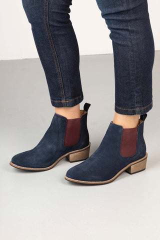 Ladies Suede Chelsea Boots