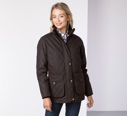 Ladies Diamond Quilt Wax Jacket
