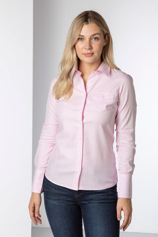 Ladies fitted long-sleeved shirt