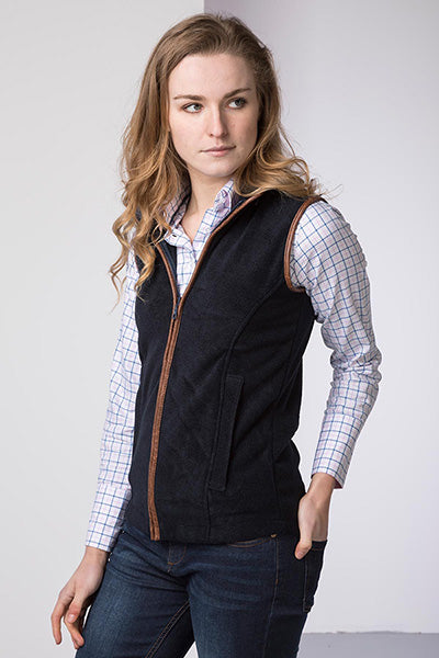 Ladies Harpham Fleece Gilet in Navy