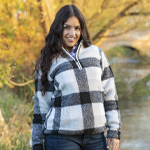 Ladies Sherpa Fleece Overhead Jumper