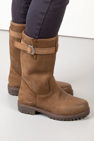 Ladies Short Leather Boots