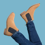 Ladies Suede Leather Chelsea Boots