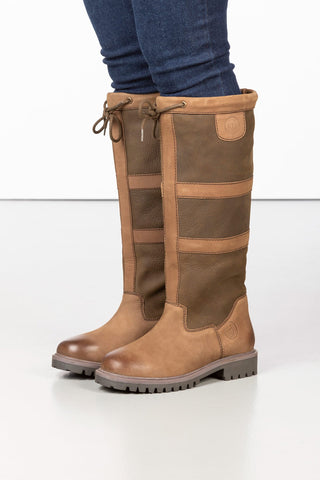 Ladies Tall Leather Brown Boots