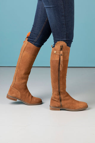 Ladies Tall Suede Boots