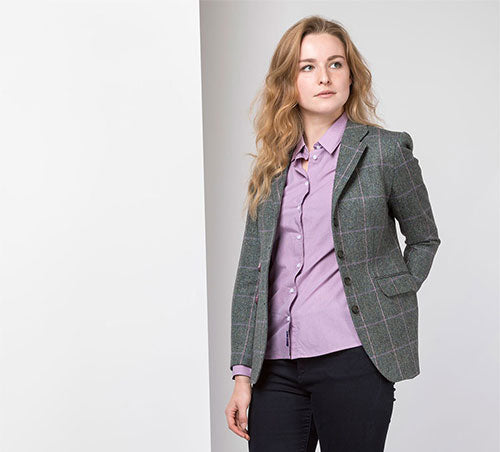 Ladies Long Tweed Blazer