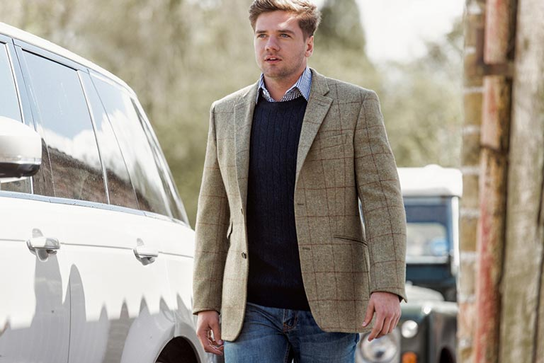 Men's Blazer Jumper Outfit