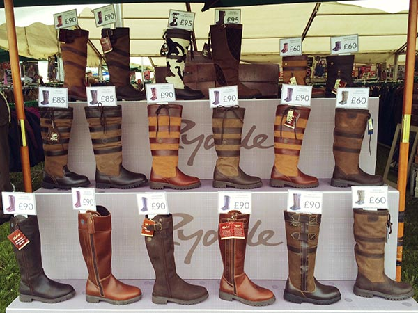 Rydale Leather Boots at Somerset Show