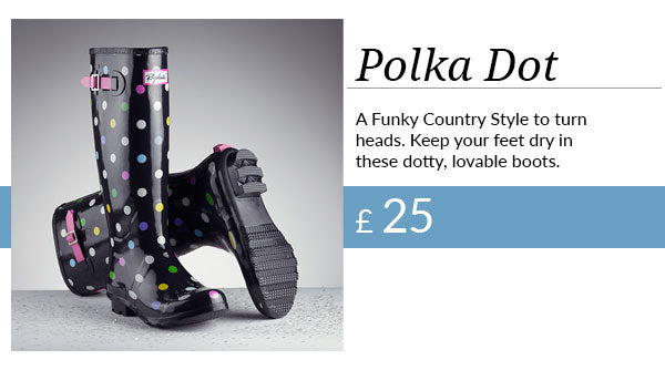 The New Polka Dot Ripon Welly