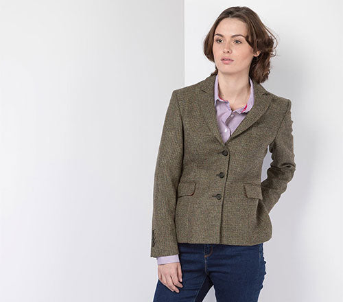 Ladies Short Tweed Blazer