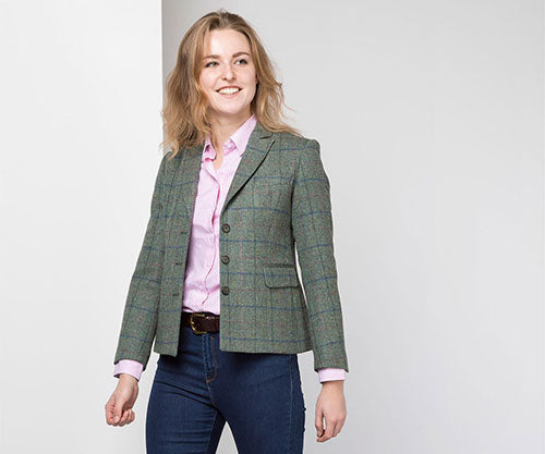 Ladies Short Tweed Blazers