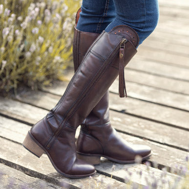 How to stretch leather riding boots