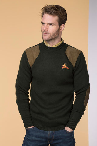 100% Wool Crew Neck Shooting Jumper