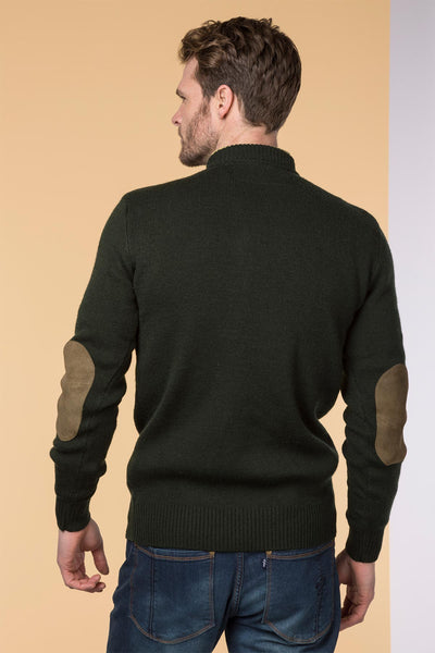 Olive Pheasant - 100% Wool Shooting Jumper