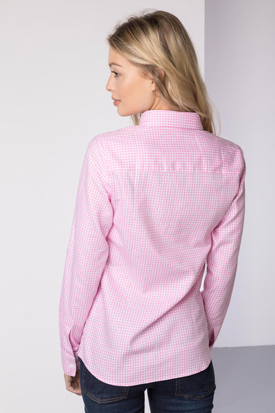 Gingham Pink - Hannah Country Overhead Shirt - Poppy