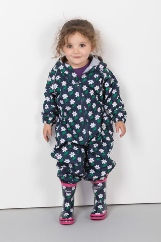 Daisy Navy - Junior Patterned Splash Suit