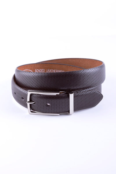 Brown - Perforated Leather Belt 5024