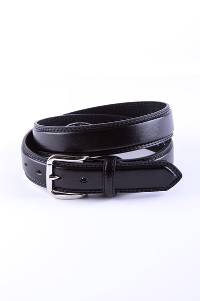 Black - Double Stitched Belt 5026