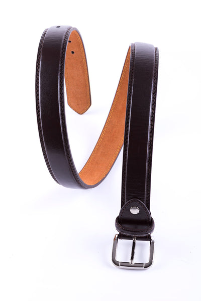 Brown - Double Stitched Belt 5026