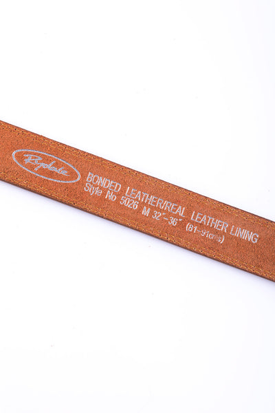 Tan - Double Stitched Belt 5026