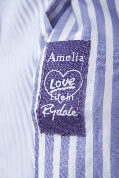 Amelia - Ladies Purple Check Shirt