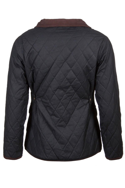 Black - Rydale Ladies Diamond Quilted Wax Cotton Jacket