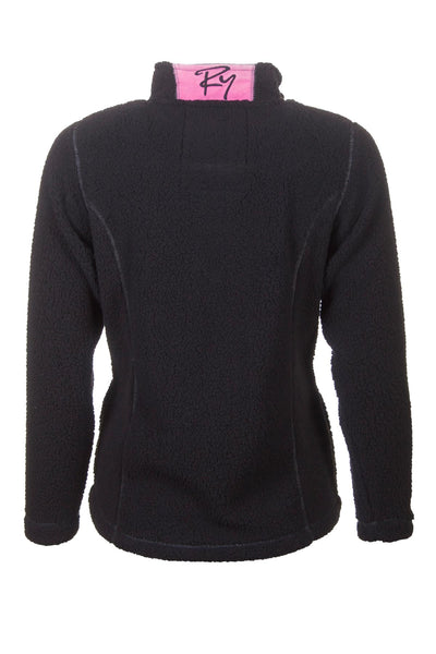 Black - Rydale Ladies Half Zip Fun Fleece