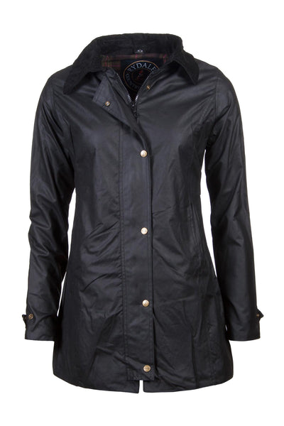 Black - Hannah long wax jacket