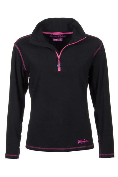 Black - Rydale Ladies Gaton Half Zip Micro-Fleece
