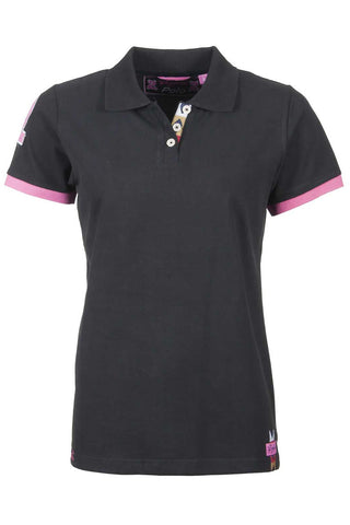 Black - Rydale Ladies Ripon Soft Polo Top