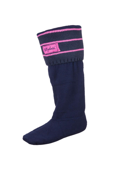 Navy/candy - Striped Boot Liners