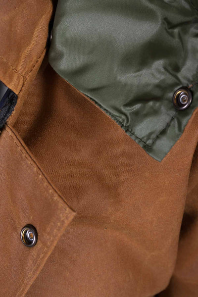 Tan - Junior Hooded Waxed Jacket