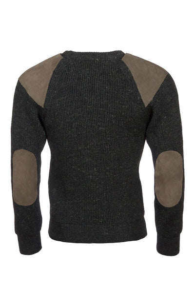 Olive Pheasant - Chunky Crew Neck Jumper
