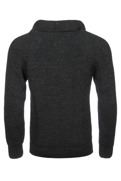 Chunky Zip Neck Shooting Sweater