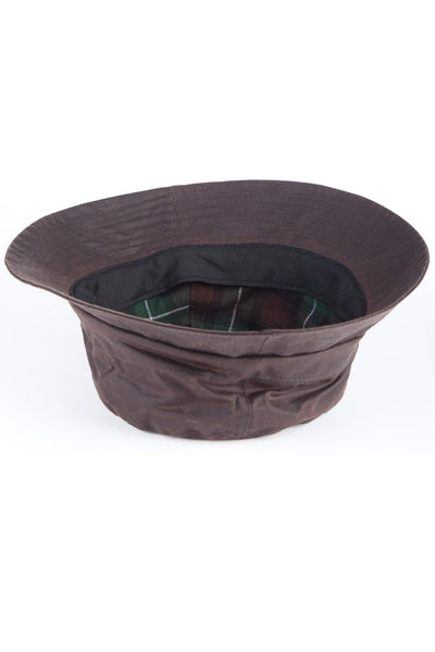 Brown - Mens Waxed Cotton Bush Hat