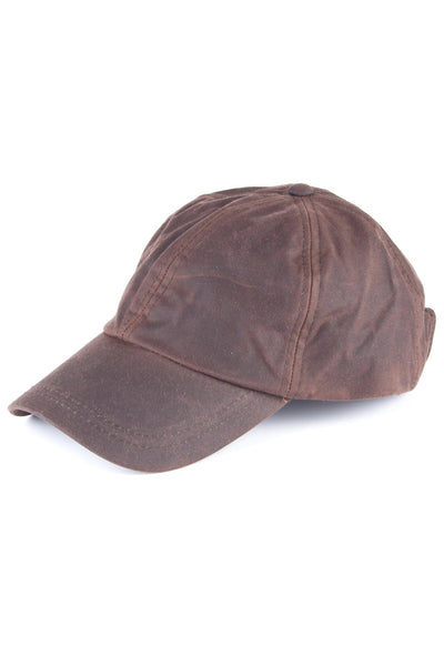 Brown - Mens 100% Waxed Cotton Country Baseball Cap a73227528f2