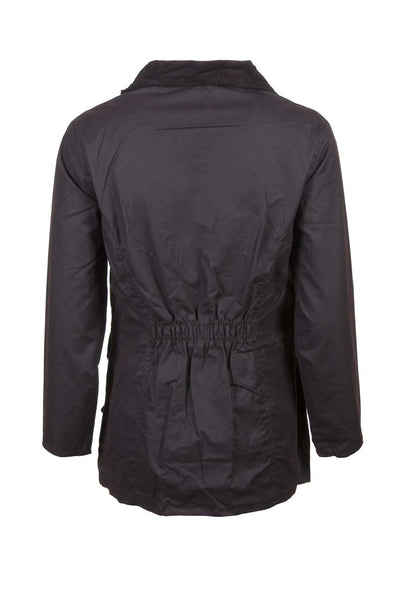 Brown - Rydale Ladies Waxed Cotton Jacket with Elasticated Back