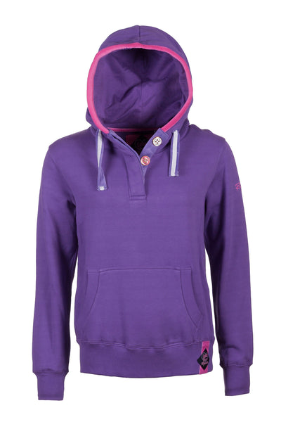 Orchid - Plain Button Neck Hoody