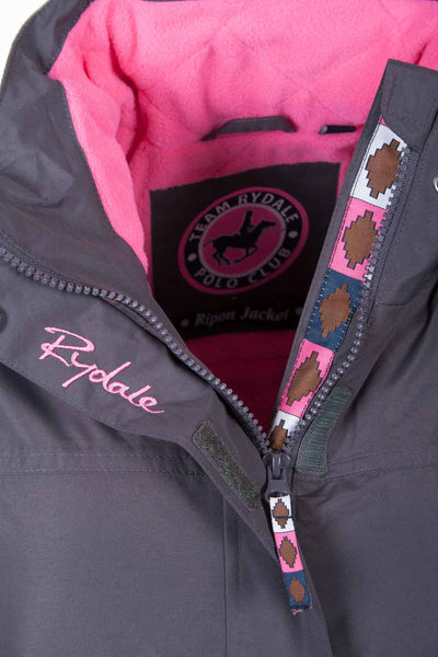 Charcoal - Rydale Ripon Polo Jackets for Women