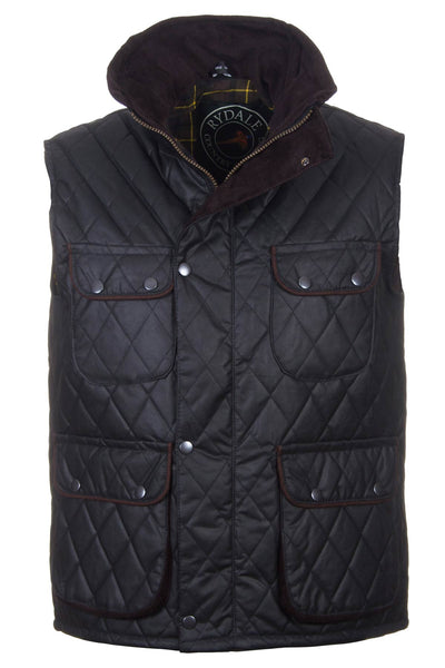 Black - Diamond Quilted Waistcoat
