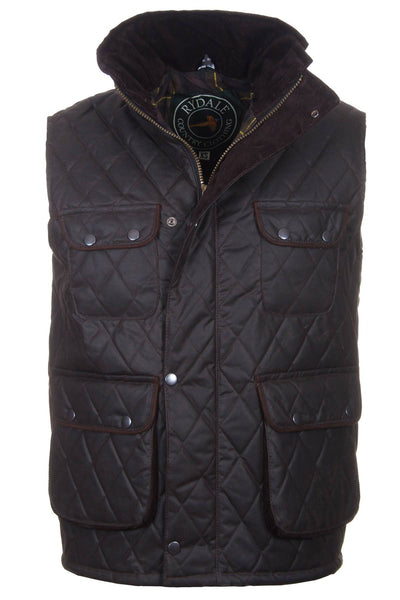 Brown - Diamond Quilted Waistcoat