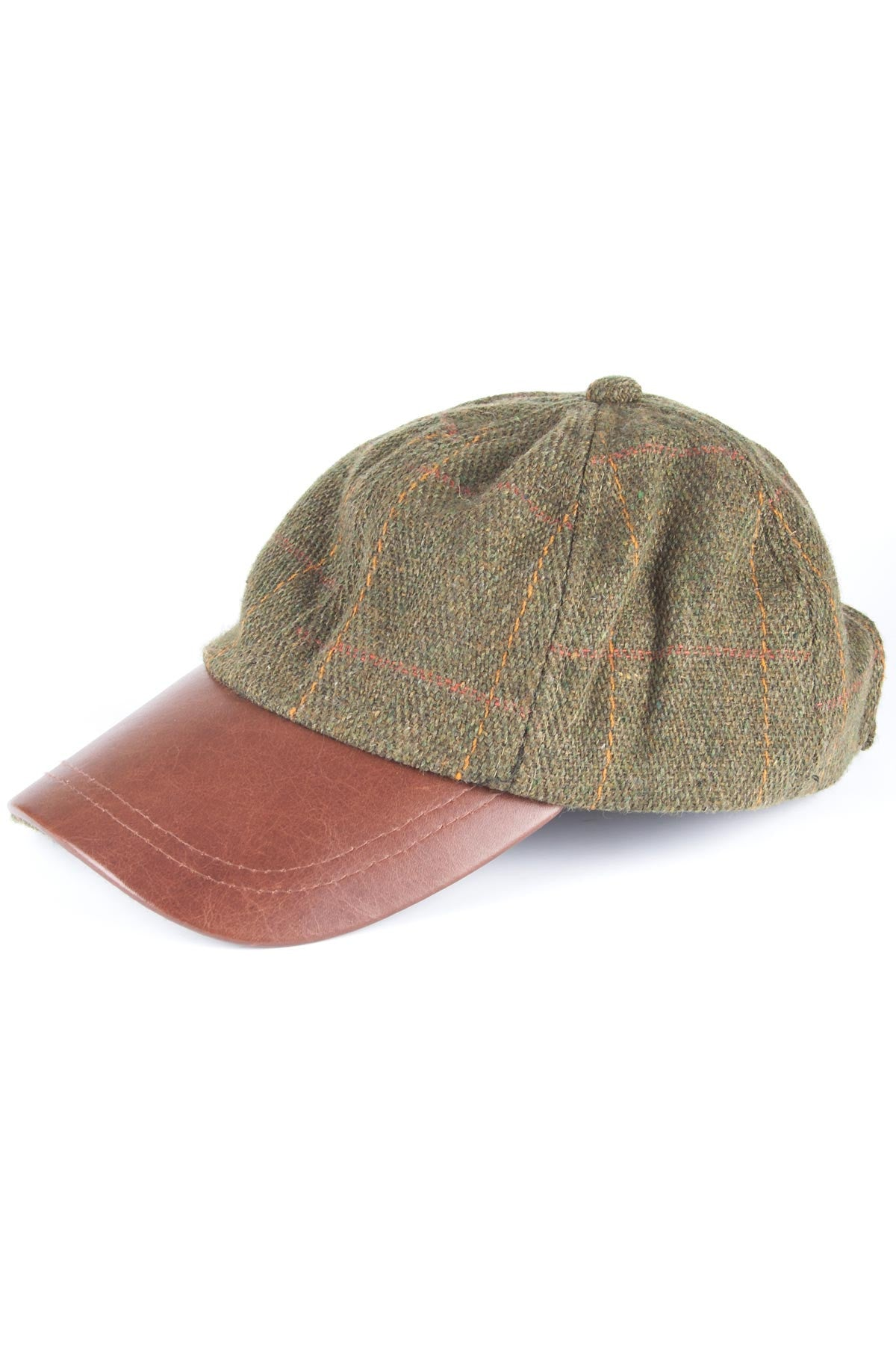 ... Tweed Baseball Cap with Leather Peak. Previous 0e531424221