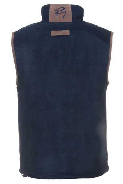 Navy - Rydale Mens Egton Fleece Gilet