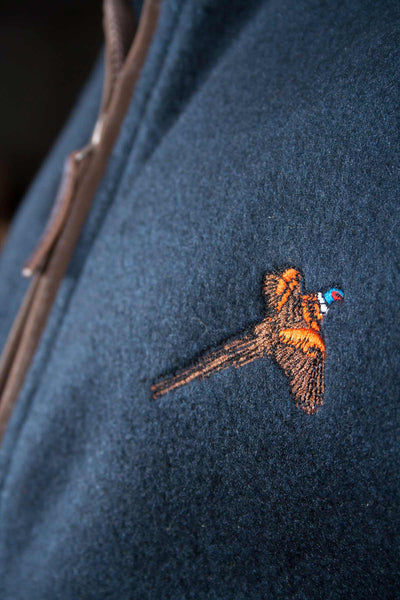 Navy Pheasant - Egton Fleece Gilet