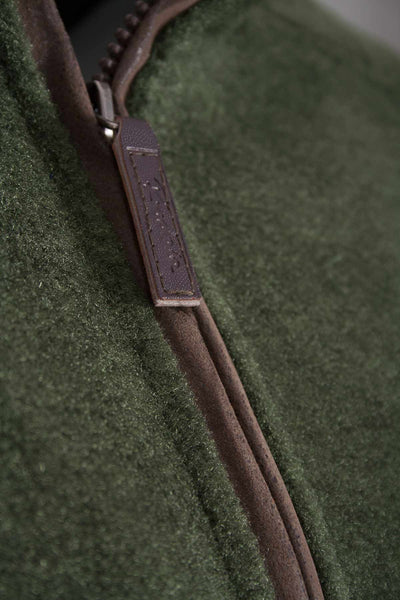 Dark Olive Pheasant - Egton Half Zip Fleece