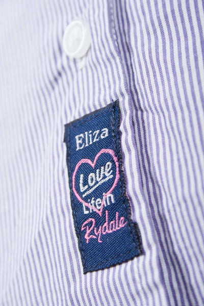 Eliza - Ladies Purple Stripe Shirt