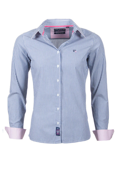 Evie - Pin Stripe Ladies Shirt