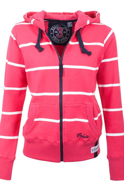 Ruby / White - Rydale Full Zip Hoody