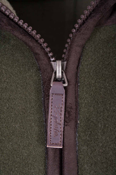 Dark Olive - Garton Fleece Gilet with Pheasant Motif